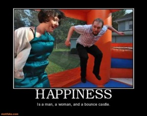 happiness is a bounce house