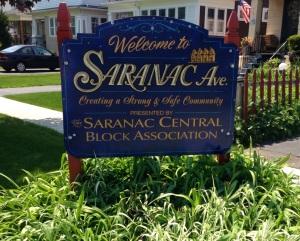 Saranac Central Sign