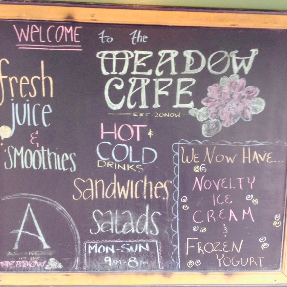 Meadow Cafe Sign